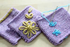 embellished knitting