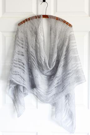 mohair beads shawl Liquid Silver