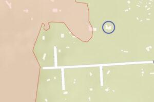 Tamarack Fire map